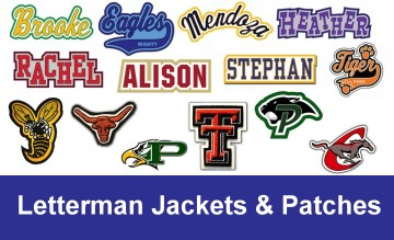 Texas School Products - Letterman Jackets & Patches